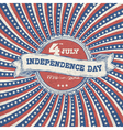 independence day vintage poster vector image vector image