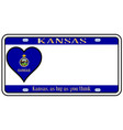 kansas state license plate vector image vector image