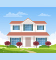 large beautiful country house villa cottage vector image