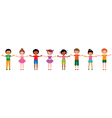 Large group of children of different ethnic vector image vector image
