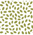 leaf seamless pattern plant background vector image vector image