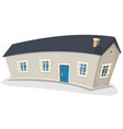 long house vector image