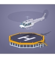Low poly heli pad vector image vector image