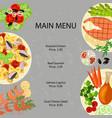 main restaurant menu vector image vector image