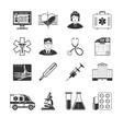 Medical And Healthcare Black Icons vector image vector image