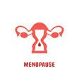 menopause icon vector image