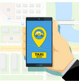 mobile app to call a taxi vector image