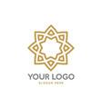 modern geometric flower logo design vector image vector image