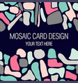 mosaic card design with place for your text vector image