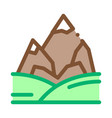 mountains with snow icon outline vector image