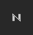 N logo letter monogram of thin and bold lines