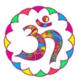 omkara symbol vector image vector image