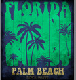 on theme surf and surfing in florida palm vector image vector image