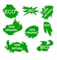 organic bio eco natural stickers vector image vector image