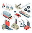 pollution problem transport and factory garbage vector image
