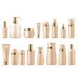 realistic cosmetic package gold beauty product 3d vector image