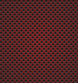 red circle perforated carbon speaker grill texture vector image vector image