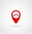 red location icon for mountain eps file vector image