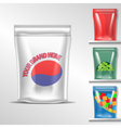set of colored polyethylene pack for candy vector image vector image