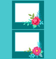 set of postcards with plants vector image vector image