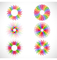 Set with abstract flowers vector image