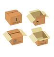 Shipping box vector image vector image