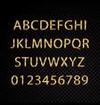 star sparkle golden alphabet typography letter vector image vector image