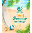 Summer holidays background surfing beach vector image vector image