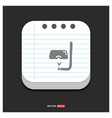 swimming mask icon gray icon on notepad style vector image