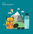 tour agency poster banner flat vector image vector image