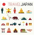 Travel Japan Icons vector image vector image