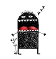 Ugly Character Monster Screaming vector image vector image