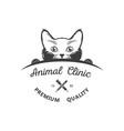 vintage logotype animal clinic vector image