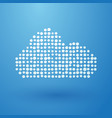 white cloud composed of small polka dots vector image vector image