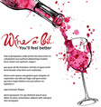 Wine - sketch and art style vector image vector image
