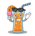 with ice cream cocktail character cartoon style vector image vector image