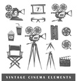 Set of silhouettes a movie vector image