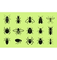 Insects icon set Pest control vector image