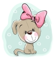 Cute Cartoon Puppy vector image
