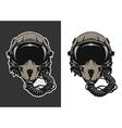 Fighter Pilot Helmet vector image