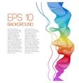 Smoke rainbow background vector image
