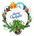 Wreath of fir branches vector image