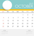2015 calendar monthly calendar template for vector image vector image