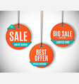 3d price sale label tags set vector image vector image