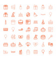 49 birthday icons vector image vector image