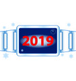 abstract 2019 watch vector image
