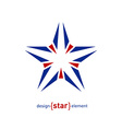 Abstract star with arrows design element vector image vector image