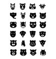 Animal Faces Icons 2 vector image vector image