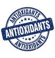 antioxidants blue grunge round vintage rubber vector image vector image