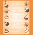 bakery sweet frame background vector image